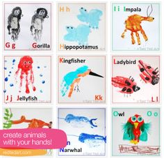 Good rainy day project, perfect for decorating the play area. Via colour me there animal-alphabet-art-printable-paint