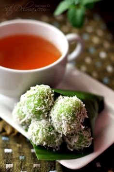 Klepon - Indonesian snack - put anything you like inside (the original filling is palm sugar)