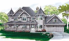 Eplans Queen Anne House Plan - Rich Victorian Design - 2632 Square Feet and 4 Bedrooms from Eplans - House Plan Code HWEPL06218