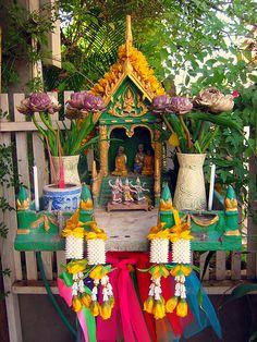 Altars:  Thai Spirit House #Shrine.