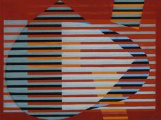Sam Vanni: Kultainen leikkaus, 1965, guassi, 48x64 cm - Hagelstam A138