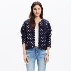 As the daughter of archaeologists, Manhattan-born Ulla Johnson went on some incredible family vacations. Her globe-trotting childhood comes through in her thoughtful, subtly embellished designs that (surprise) also happen to be pretty great to travel in. Take this quilted cotton jacket—it's ready to go anywhere.  <ul><li>True to size.</li><li>Cotton.</li><li>Dry clean.</li><li>Import.</li></ul>