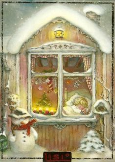 """Photo from album """"Lisi Martin Christmas Cards"""" on Yandex. Vintage Christmas Images, Christmas Scenes, Old Fashioned Christmas, Christmas Past, Pink Christmas, Vintage Holiday, Christmas Pictures, Christmas Greetings, Winter Christmas"""