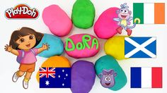 Dora The Explorer Egg Surprise Toy Play Doh Surprise Eggs