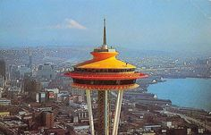 """This week the Space Needle - celebrating its 50th anniversary - will return to its glorious """"galaxy gold"""" color as it appeared for the World's Fair in 1962. Some might call it orange."""