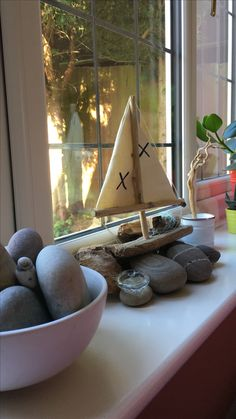 Robinson Crusoe! My Driftwood boat with my wife's Manisha's screen-printed 'x' marks the spot fabric strike-offs!