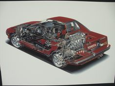 Lovely cutaway Toyota MR2 AW11- not a MKII, but I still love the MKI as well!