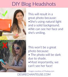 How To Take Your Own Blog Headshot | Desire Chanteuse blog