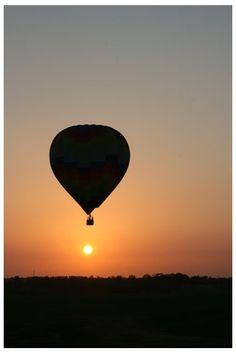 take a hot air balloon air ride