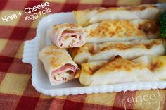 Ham and Cheese Egg Rolls | Once A Month Meals | Freezer Cooking | OAMC