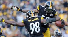 Pittsburgh Steelers linebacker Vince Williams promises Buffalo Bills running back Karlos Williams Super Bowl tickets if they can beat the New York Jets. Pittsburgh Steelers Players, Steelers Football, Vince Williams, Super Bowl Tickets, Steel Curtain, Running Back, New York Jets, Sports, Hs Sports