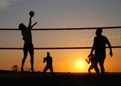 Beach Volleyball in the sunset