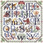 Nature's Alphabet cross stitch from Kooler Design Studio