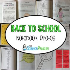 Back to School Science Notebook Plan-- Photos and Ideas to Start Interactive Science Notebooks!