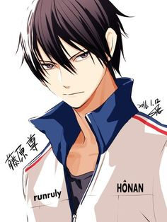 """Fujiwara Takeru from Honan. I can't help it. Somehow he reminds me of Haruka Nanase from """"Free!"""". Well, they have a similar personality, look nearly the same and have a cute snugglemuffin as a best friend."""