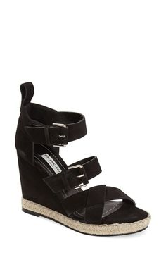 Balenciaga Suede Espadrille Wedge Sandal (Women) available at #Nordstrom