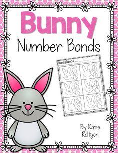 Bunny Number Bonds {Freebie} | This FREE download includes six pages that practice number bonds! Three of the pages focus on numbers 0-5, and three of the pages focus on numbers 0-10. Students can use manipulatives to help figure out which number is missing in the number bond. Perfect for the preschool, Kindergarten, or 1st grade classroom or homeschool to use in March, April, at Easter, or anytime in the spring.