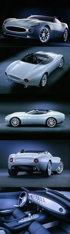 2000 Jaguar F-type / concept / J. Mays / neo-conservative / postmodern / silver / UK USA