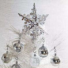 Silver Christmas tree topper.