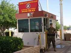 An entrance to the Marine Corps Logistics Base in #Barstow, #California.  #FilmBarstow www.FilmBarstow.com