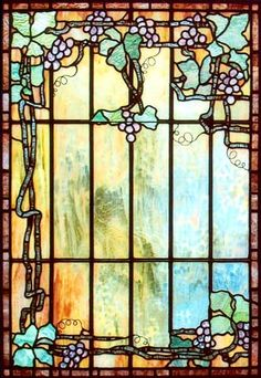 Art Nouveau was strongly influenced by Czech artist Alphonse Mucha. Initially named Style Mucha, his style soon became known as Art Nouveau. Stained Glass Designs, Stained Glass Panels, Stained Glass Patterns, Leaded Glass, Stained Glass Art, Glass Doors, Art Nouveau, Art Deco, Tiffany Stained Glass