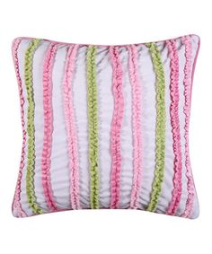 Love this Pink & Green Adalyn Velour Pillow on #zulily! #zulilyfinds