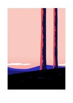 Sentinels de Thomas Danthony, Affiche sentinels, poster deco design, acheter les affiches expo Voyage