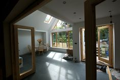 Gable glass fronted extension.