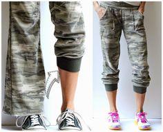 DIY Refashioned Track Pants
