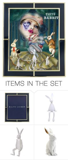 """""""White Rabbit"""" by karolinewells ❤ liked on Polyvore featuring art, Collage, Rabbit, dreams, artset and surrealism"""