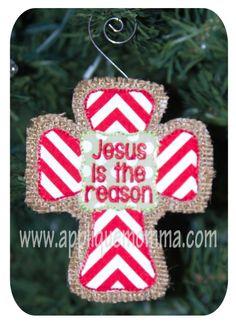 Jesus is the Reason Ornament In the Hoop Design