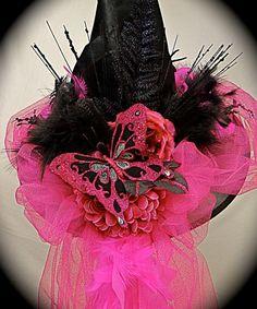 Miss+Scarlett's+Witch+Hat+OOAK+by+Marcellefinery+on+Etsy,+$68.00