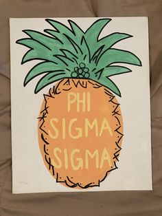 #sorority #crafts #phisig #phisigmasigma #biglittle phi sig crafts sorority crafts canvas #pineapple sorority pineapple phi sigma sigma, sorority, pineapple, craft,