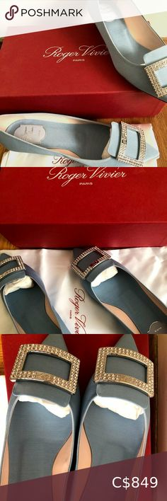 Check out this listing I just found on Poshmark: BRAND NEW Roger Vivier Tres Vivier Crystal Buckle. #shopmycloset #poshmark #shopping #style #pinitforlater #Roger Vivier #Shoes Suede Heels, Leather Pumps, Black Patent Leather, Blue Suede, Brown Suede, Miu Miu Wallet, Valentino Rockstud Sandals, Roger Vivier Shoes, Silver Pumps