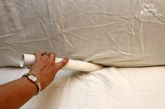 Genius! Shipping tubes hold the slipcover in place! Plus other tips for using slip covers.