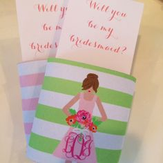 will you be my bridesmaid? cute bridesmaid koozies from haymarket designs