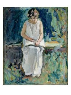 Young Girl Reading by Henri Lebasque Mary Cassatt, Reading Art, Girl Reading, Reading Books, Joan Mitchell, Edvard Munch, Camille Pissarro, Pierre Auguste Renoir, Painting Of Girl
