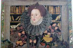 Queen Elizabeth of England box  portrait by GillScottDesign