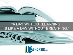 """#QuoteOfTheDay """"A day without learning is like a day without breathing."""""""