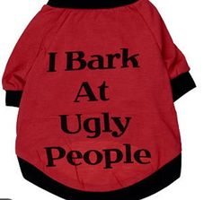 Small-Size Dog Shirt, Summer Dog Clothes, Cute Teddy Dog Cat Thin Vest, Fashion Pet Puppy Clothes Summer Cotton Costumes Pet Dog Cat Funny T Shirt 'I Bark At Ugly People' -- Visit the image link more details. (This is an affiliate link) Large Dog Costumes, Cat Costumes, Small Dog Clothes, Pet Clothes, Dog Clothing, Puppy Clothes Girl, Chihuahua Clothes, Summer Dog, Funny Summer
