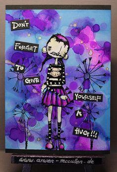 Arwen's kreative Welt: ~*Postkarte mit Alcohol Inks*~