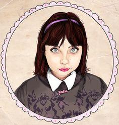 The lovely Katy, http://coeursdefoxes.blogspot.co.uk/ Illustration by Paige Joanna