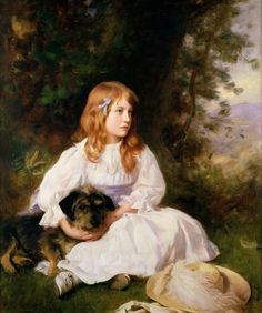 Heather, portrait of a girl (C19) by William Robert Symonds