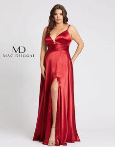 Mac Duggal Fabulouss Prom Plus Size Slit Dress 49044F | DressOutlet – The Dress Outlet Plus Size Gowns Formal, Plus Size Long Dresses, Formal Gowns, Formal Prom, Slit Dress, Dress Out, Sheath Dress, Plus Size Homecoming Dresses, One Shoulder Prom Dress