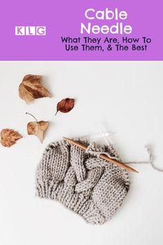 Cable Needle, Cable Knitting, Knitting Needles, How To Start Knitting, Knitting For Beginners, Knitting Needle Storage, Yarn Inspiration, Good Tutorials, Needles Sizes