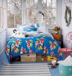 Love this as a Girl's Room! Bright & Blooming Joyfulness! Twin Petit Ch�teau Duvet Cover @The Land of Nod
