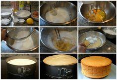 Preparación del bizcocho esponjoso básico, proporción de 1 huevo+50 g de azúcar+50 g de harina+ 15 ml de ingrediente líquido (aceite, agua, leche, mantequilla…). Multiplica cada cantidad por el número de huevos que vayas a usar