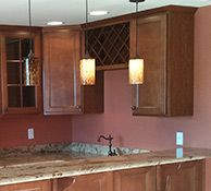 Finished Basement Company, Basement Remodeling, Kitchen Cabinets, Construction, Mirror, Bathroom, Furniture, Home Decor, Building