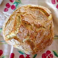 Beautiful Crusty Homemade Bread. From livingonloveblog.com.