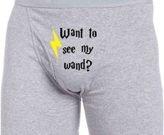 Custom Magic Wand Wizard Harry Potter inspired Boxer Briefs Fun Bachelor Party Wedding Man Gift Husband Boyfriend Sexy Underwear Gag